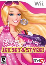 Barbie: Jet, Set & Style [Nintendo Wii, NTSC Video Game, Fashion] Brand NEW