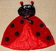 RED LADY BUG VELVET CAPE HALLOWEEN COSTUME 24-36 MONTHS TOTALLY GHOUL SURPLUS