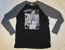 MENS LONG SLEEVE T-SHIRT LARGE JIMMY HENDRIX CLASSIC ROCK GRAPHIC TEE GREY LG!!