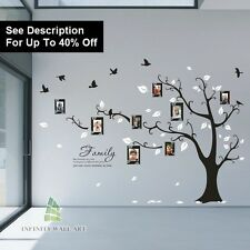 Wall Stickers Tree Flower Nursery Kids Art Decals Butterfly Vinyl Decors -/D508