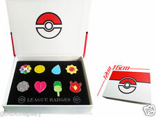 New Cosplay POKEMON Badges in box Indigo League Set 8pcs Kanto Badge Pin LCF