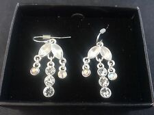 Boxed AVON Drop Dangle Earrings for Pierced Ears Preowned nut never used in Box