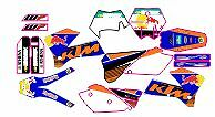kit pegatinas ktm exc-sx 125-525 2005, 2006, 2007, sticker graphics, decals