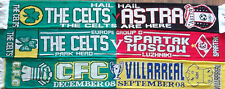 CELTIC EURO SCARF SET ASTRA-SPARTAK MOSCOW-VILLAREAL