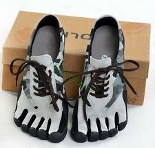 Mens Camo Sports Five Finger Toe Socks Shoes Running Trainer Climbing Yoga Shoes