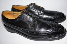FLORSHEIM Royal Imperial Dress Shoes 11.5 B Black V-Cleat 5-Nail Wingtips
