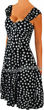 QT2 FUNFASH BLACK WHITE POLKA DOT PLUS SIZE DRESS COCKTAIL CRUISE DRESS 1X 18 20