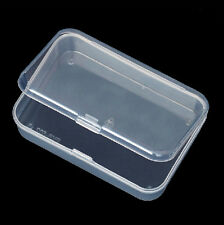 Plastic Clear Transparent Storage Box Container Nail Tips Pill Jewelry