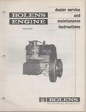 BOLENS SPRINT SNOWMOBILE ENGINE MODELS 2Z15/70 DEALER SERVICE MANUAL(101)