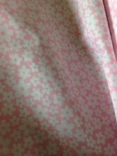 3m of Poly Cotton Pink Lazy Daisy Flower Fabric