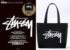 100% Brand New STUSSY Canvas Handbag Tote bag  from Japan Magazine Appendix