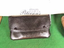 GORGEOUS BLACK GRAINED PETERSON'S NAPAHYDE TOBACCO POUCH SNAP SHUT BOXED
