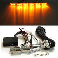 Amber 18 LED Flashing Grille Light Bar Strobes Warning Recovery Breakdown Yellow