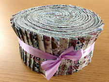 JELLY ROLL STRIPS 100% COTTON PATCHWORK FABRIC FLORAL 40 PIECES