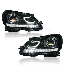 For 2011-2014 Mercedes-Benz W204 C63 AMG headlights LED DRL Bi-xenon Projector