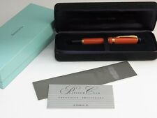 Parker Duofold Orange Centennial Fountain Pen M TIFFANY EMBLEM RARE