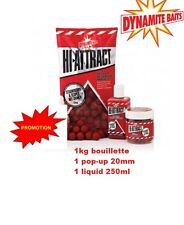 1kg bouillette DYNAMIT BAIT Hi-Attract Strawberry & Scopex + dip + pop up