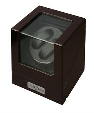 Diplomat Double Ebony Wood Dual Watch Winder2 Watches Work With Battery Power
