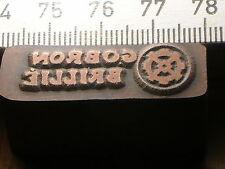 GOBRON BRILLIE   LOGO schöner Oldtimer Stempel / Siegel aus Metall