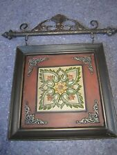 Fleur de Les Lis Floral Metal Art Hanging Rustic Picture Heavy Wall Hanging NEW