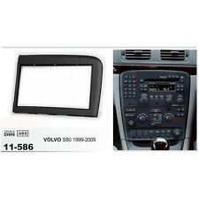 Fascia Stereo For Volvo S80 1999 2000 01-05 Trim Kit 2 Din Panel Dash Mount