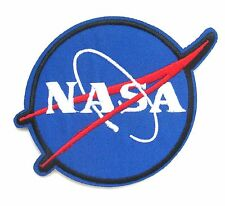 NASA Iron On Patch- Space Astronaut Badge Sew Embroidered Fancy Dress Up Patches
