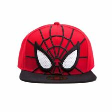Official Marvel Spider-man 3D Snapback Cap with Mesh Eyes - One Size