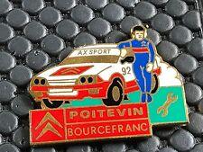 PINS PIN BADGE CAR CITROEN AX SPORT POITEVIN 333EX