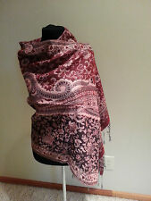 SHAWL Head WRAP winter Scarf hat cover red and pink new free ship