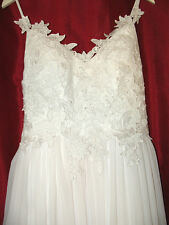Sexy Chiffon Sleeveless  Formal Wedding Dress Bridal Gown Custom Made New
