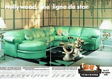 PUBLICITE ADVERTISING 116  1988  Cuir Center (2p)  canapé panoramique Hollywood