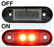 12V/24V FLUSH FIT RED REAR LED MARKER/POSITION LAMP/LIGHT KELSA BULL BAR AS RDX