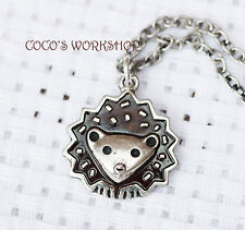 QUALITY VINTAGE ADORABLE HEDGEHOG ANIMAL PENDANT SILVER NECKLACE GIFT JEWELLERY