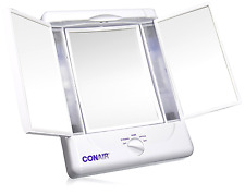 Conair Illumina Three panel Make-up Shave Mirror w/4 Light Settings Beauty New