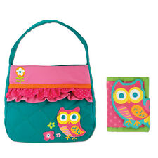 Stephen Joseph Quilted Owl Purse and Wallet for Girls - Cute Kids Handbags