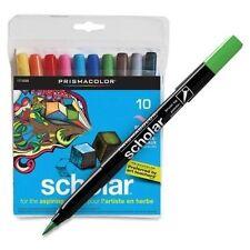 Prismacolor Scholar BRUSH TIP ART MARKERS 10 pc set 1774268 Brand NEW!