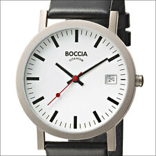 Boccia Quartz Dress Watch with Light Weight 38mm Titanium Case #3538-01
