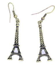 Vintage style bronze coloré Tour Eiffel dangle boucles d'oreilles