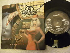 AEROSMITH LOVE IN AN ELEVATOR 45rmp vinyl 7ins single record