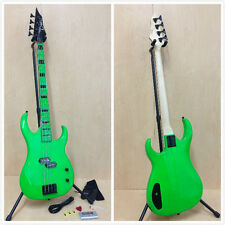 CUSTOM ZONE Nuclear Greeen 4-String Electric Bass Guitar + Free Gig Bag,Strap