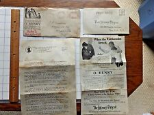 1926 Literature on O.Henry Volume and Literary Digest Subscription