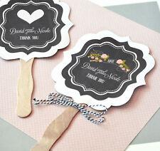 75 - Personalized Chalkboard Paddle Fan Favor - Wedding & Party