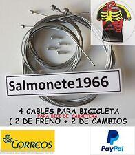2 CABLES FRENO + 2 CAMBIO BICICLETA CARRETERA PARA CAMPAGNOLO SHIMANO SRAM ETC.