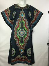 Women Caftan Long Dress African Kaftan Dashiki Boho Maxi Gown One Size Gray Red