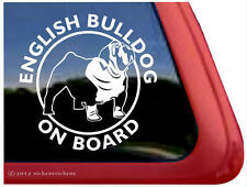 English Bulldog On Board~ High Quality Vinyl Dog Window Decal Sticker