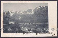 SONDRIO STRADALE DELLO SPLUGA 11 PIANO della CASA - VAL LOGA Cartolina viag 1904