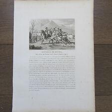 GRAVURE 1830 NAPOLEON BATAILLE DE RIVOLI 14 ET 15 JANVIER 1796