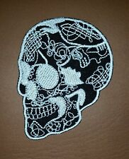 Skull Head Tattoo Biker Horror Goth Punk Rock Iron/Sew-on Embroidred Patch/ Logo