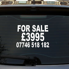 FOR SALE / PRICE / PHONE NUMBER CUSTOM CAR/VAN/WINDOW VINYL SIGN DECAL STICKER