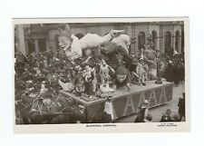 BLACKPOOL CARNIVAL CLOWNS CIRCUS RING TABLEAUX FLOAT REAL PHOTO POSTCARD